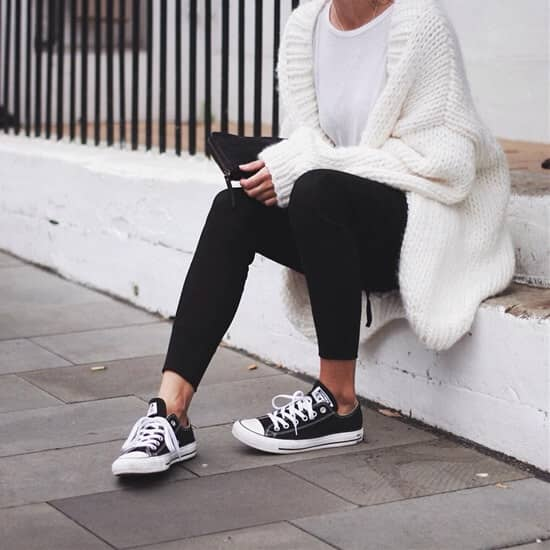 Classic Converse with a Wool Pull-Over