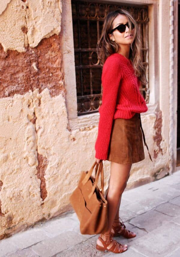 Cable Knit, Caramel, Gladiator Sandals