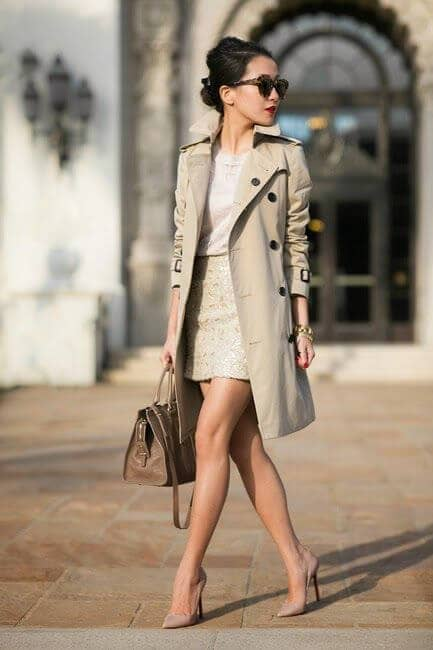 Trenchcoat Outfits For Dress