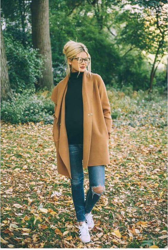 Sneakers, jeans, sweaters, and style