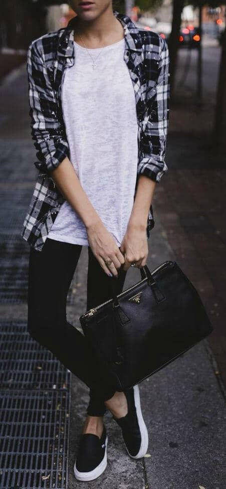 Flannel and Vans- Perfect Winter Wear!