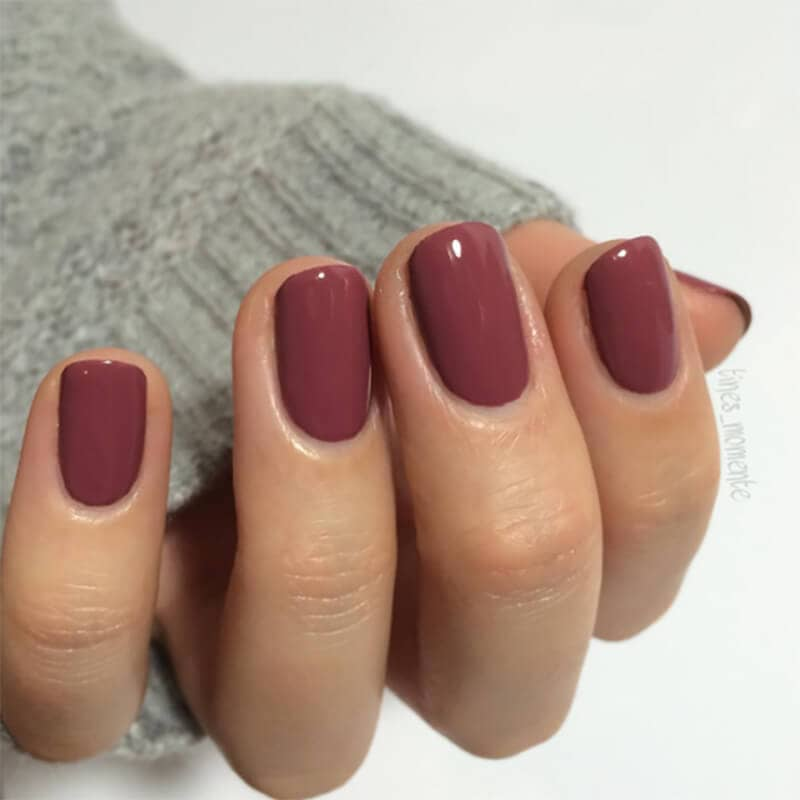 Muted Red Winter Nail Design