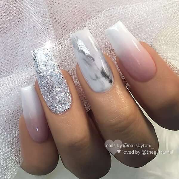 Sparkling Holiday Diva Marble and Ombre