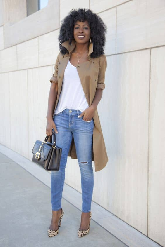A Chic, Classic Camel Color Trenchcoat