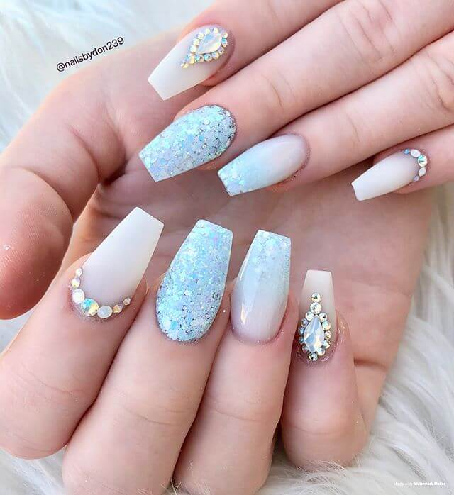 Snow Queen White Glitter and Gems