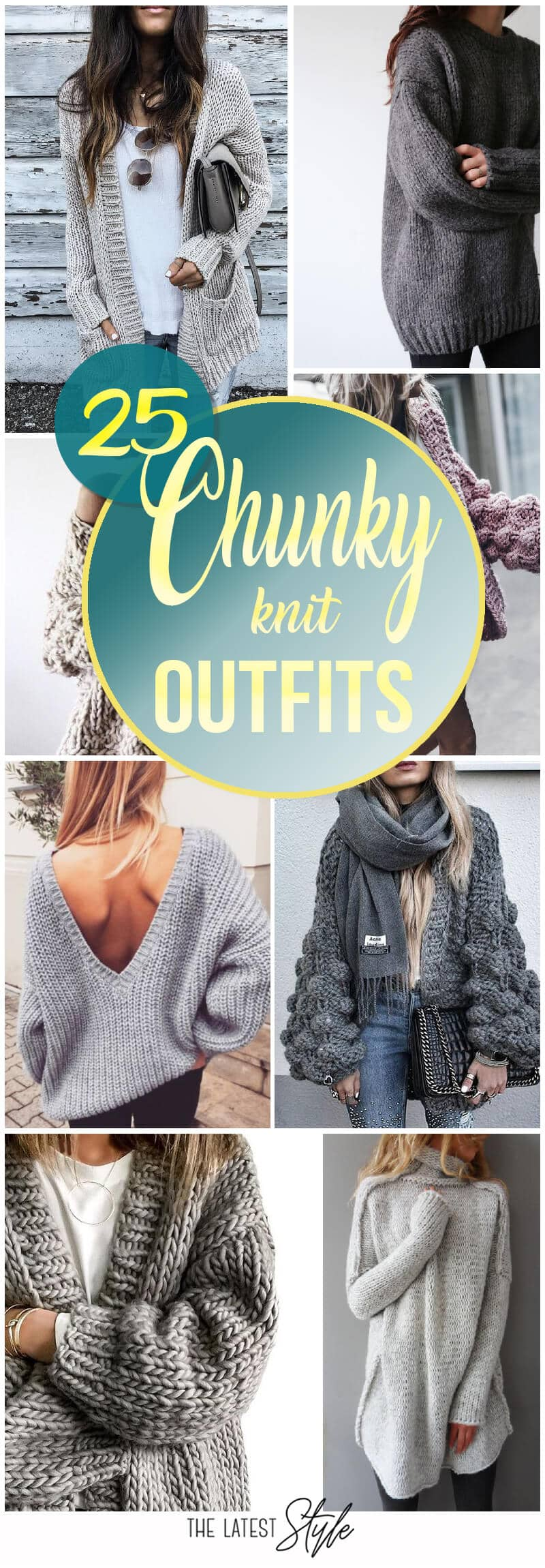 25 Chunky Knit Sweater Outfits For The Holidays