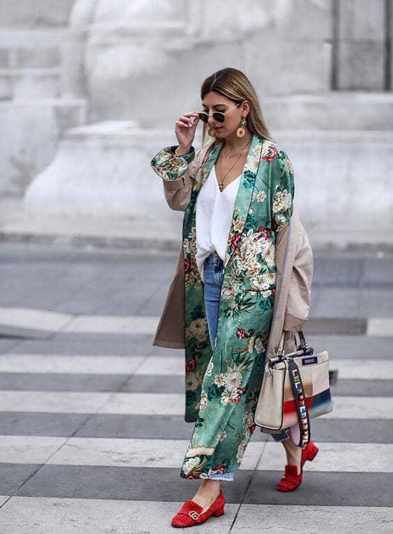 Kimono Trench Coat Combo