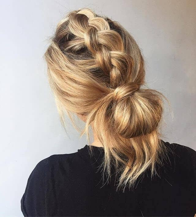 2 Messy Braid Into Low Wrapped Knot