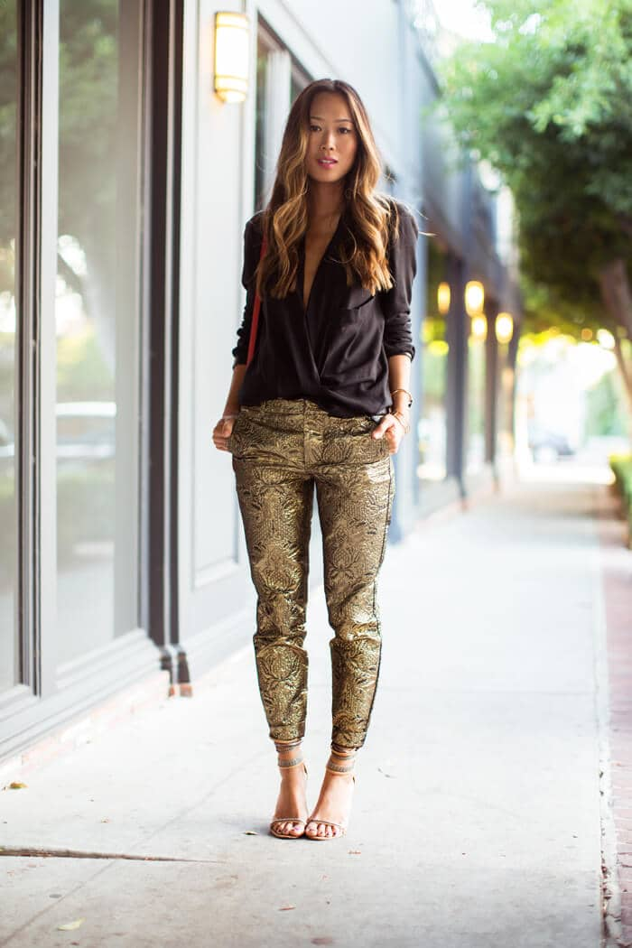 Super Glam in Gold Lamé
