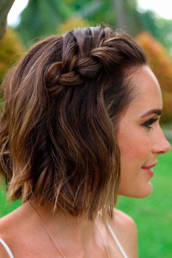 Volumizing Braid Hairstyle For Short Hair