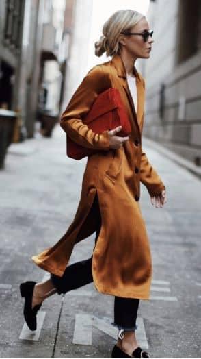 Satin Metallic Kimono Maxi Blazer