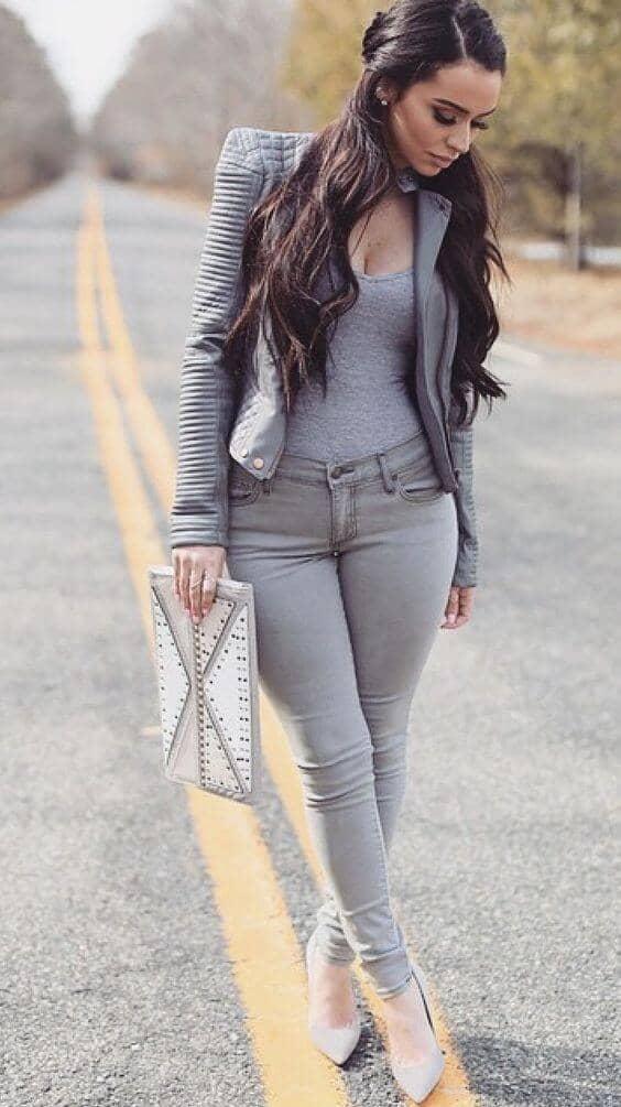 Grey Blazers Mean Business