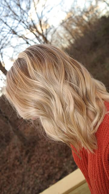 Ashy Honey Blonde With Platinum Highlights