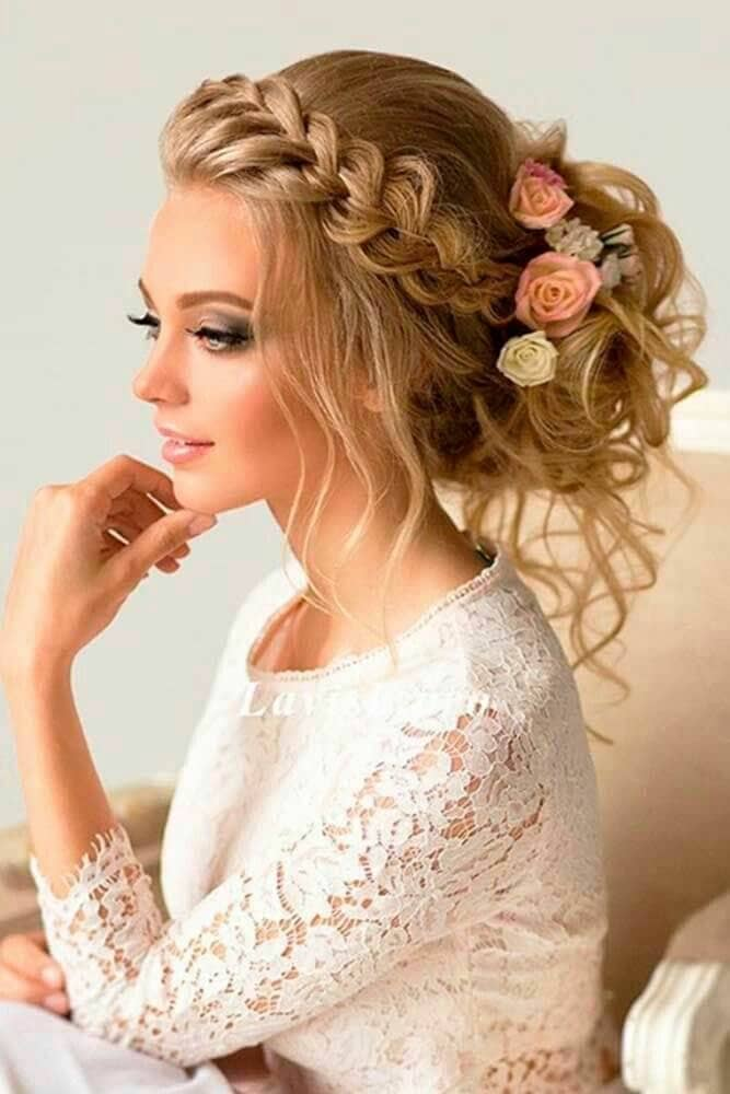 Curly Updo With Crown