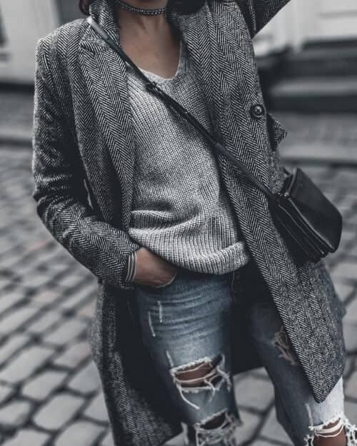 Grey Trench Coats Are Iconic