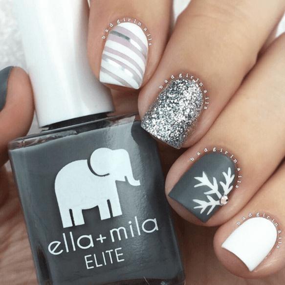 Silver, Gray And White Snowflake Theme