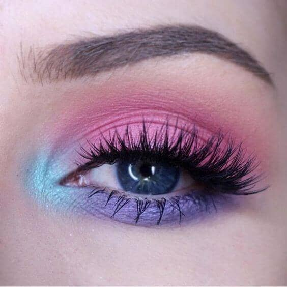 Vibrant Rainbow Smoky Eye