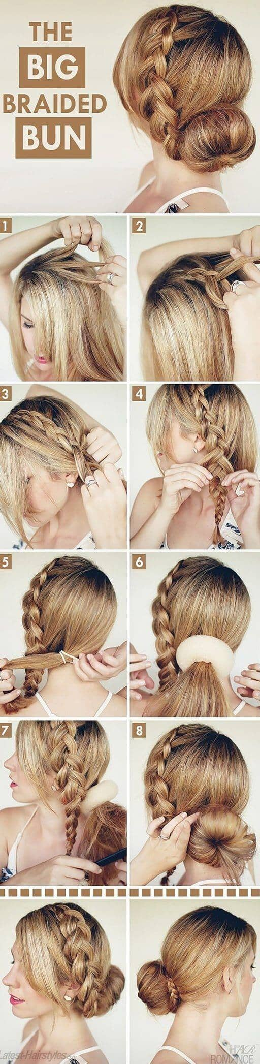 Sock Bun With Braided Crown