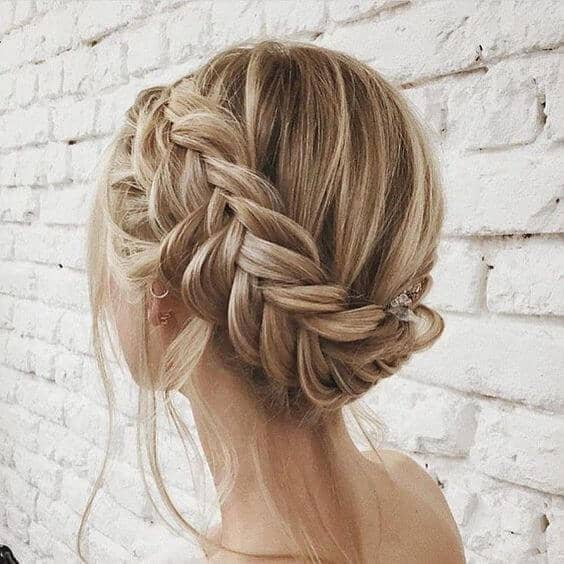 An Elegant Plaited Updo