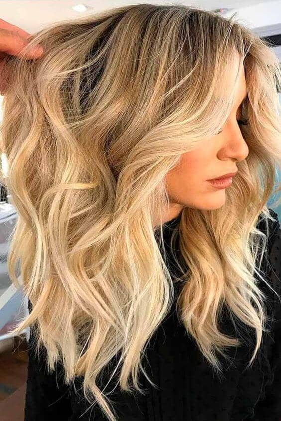 Bright Golden Blonde Balayage
