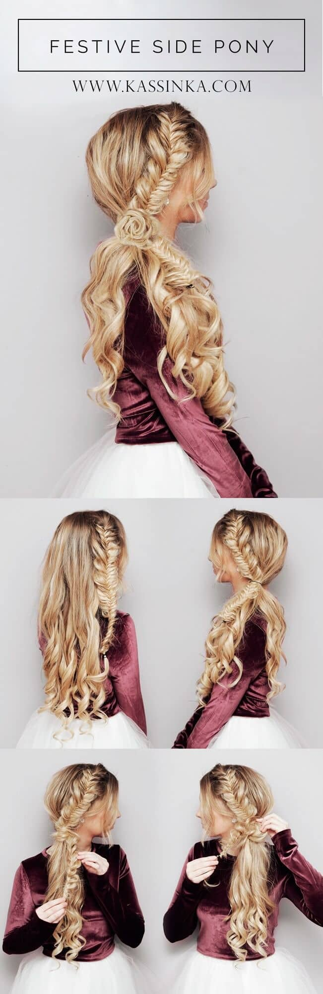 Side Ponytail With Fishtail