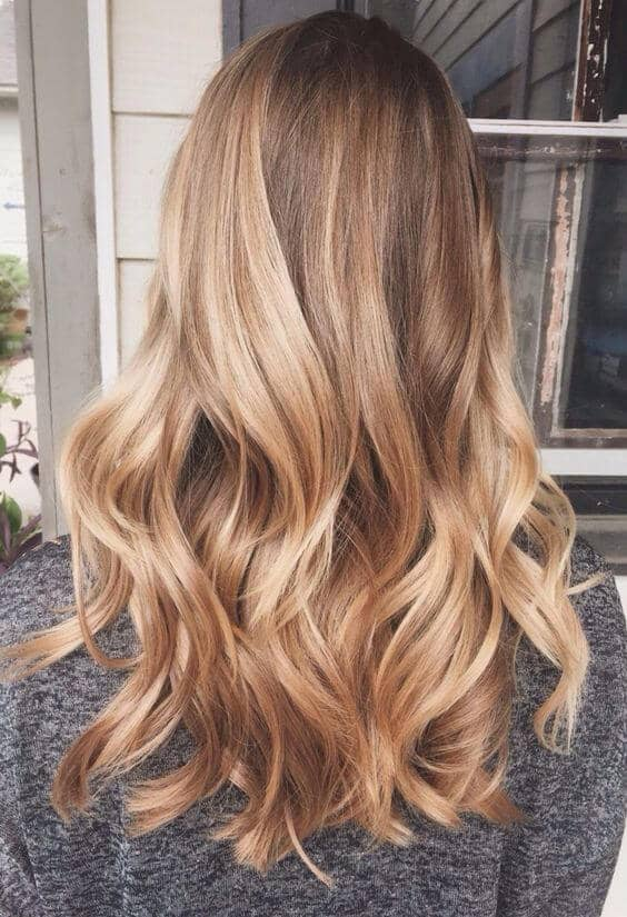 Medium Golden Blonde with Highlights