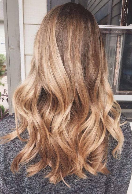 Medium Golden Blonde with Highlights
