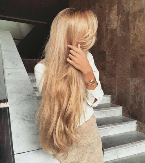 Honey Blonde Allover Haircolor