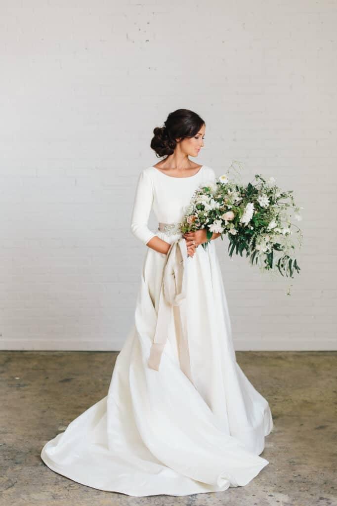 Minimalistic Dress with Belt