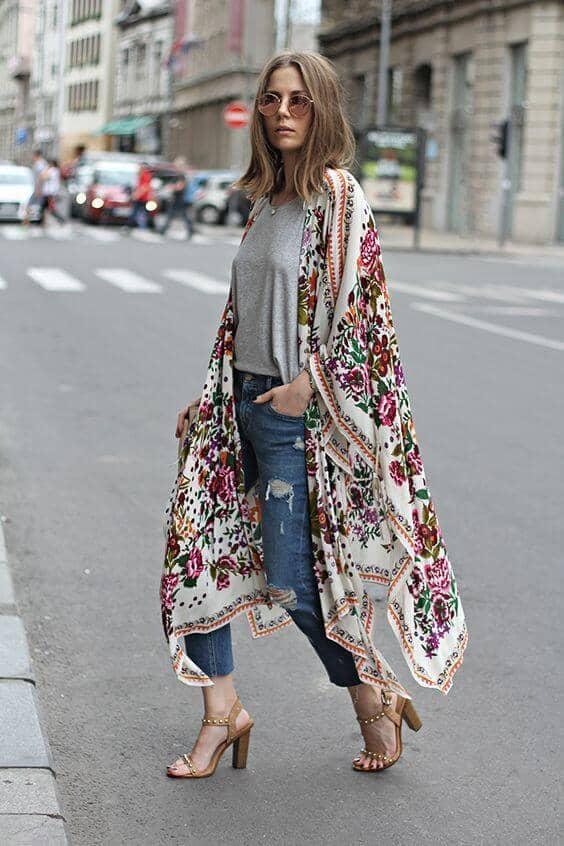 Dainty Kerchief Kimono Shawl
