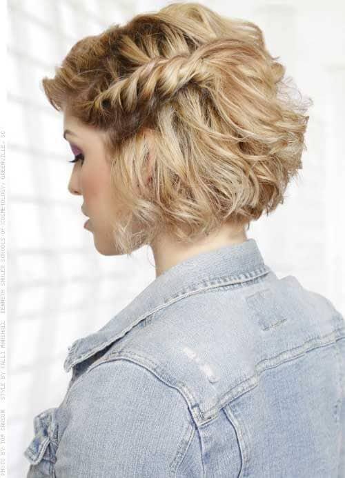 A Fishtail Braid Hairstyle For Short Hair