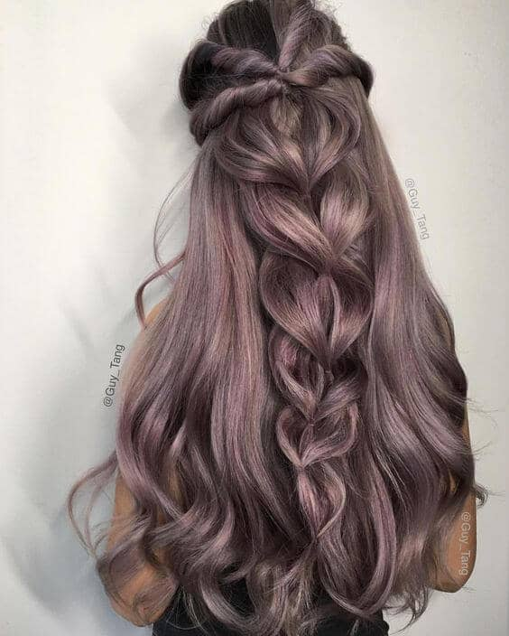 Twisted Heart Half Up Do