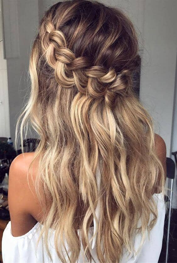 Beachy Waves With Waterfall Crown