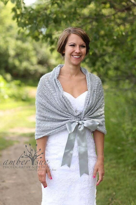 Simple Dress with Grey Shawl