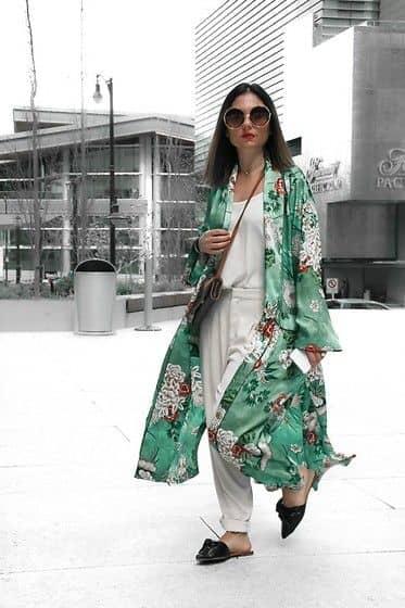 Flowery Sheer Chiffon Kimono