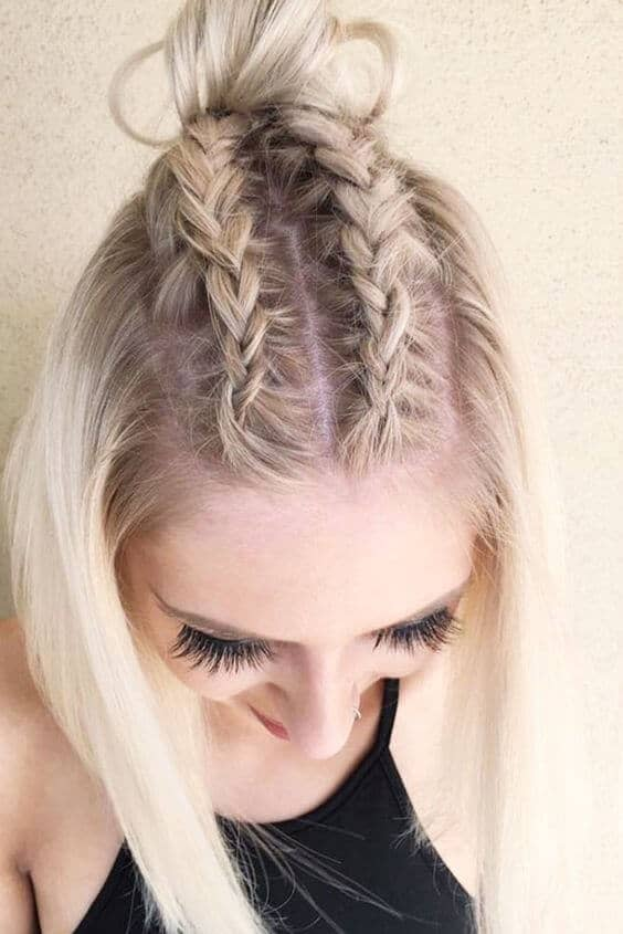 Cornrow Braid Hairstyle For Short Hair