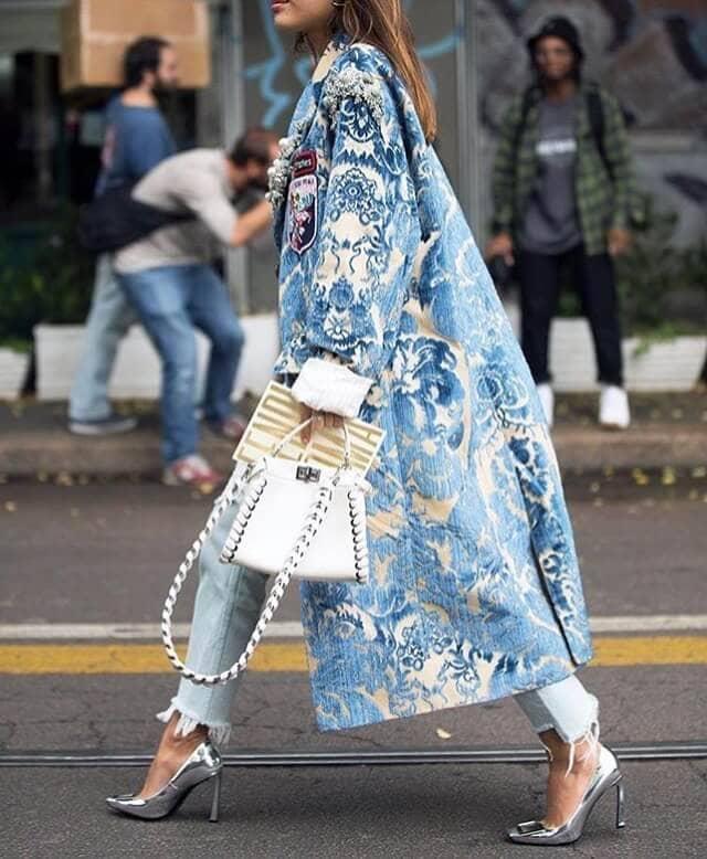 Oversized Vintage Batik Coat