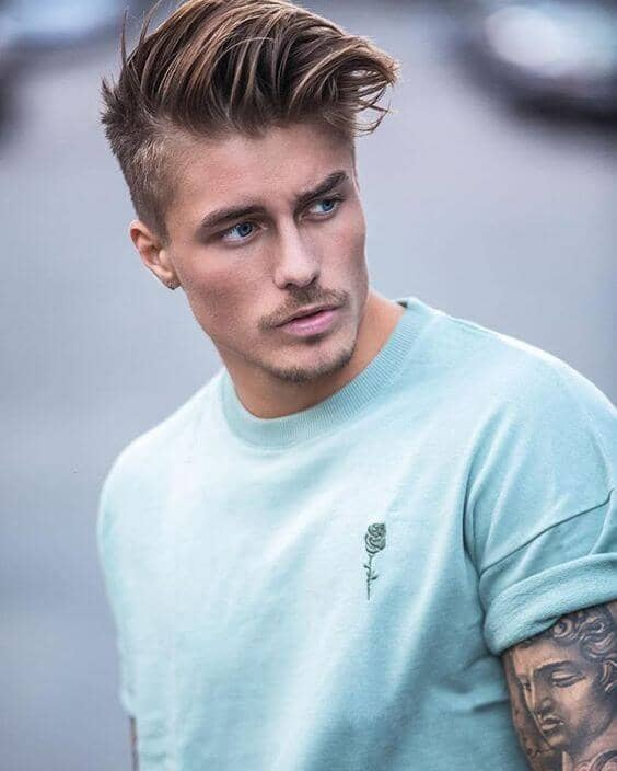 Tight Tapered Cut With Long Side Swept Top