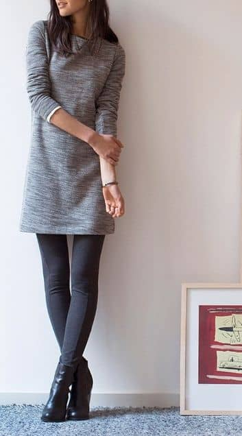 Make a Mini Work-Friendly with Leggings