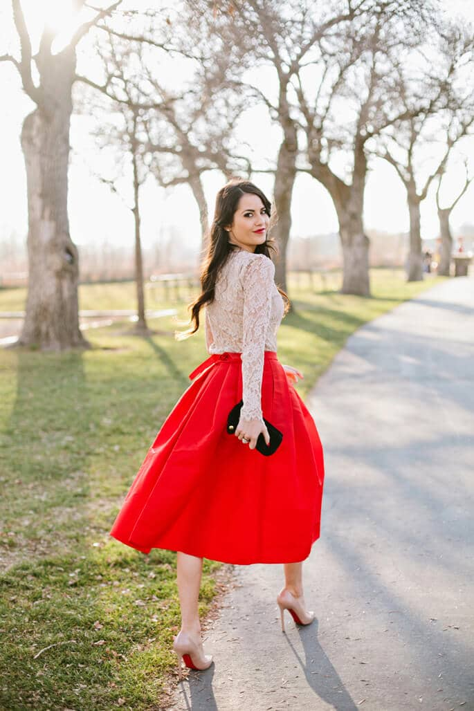 Louboutin Inspired Holiday Party Outfits