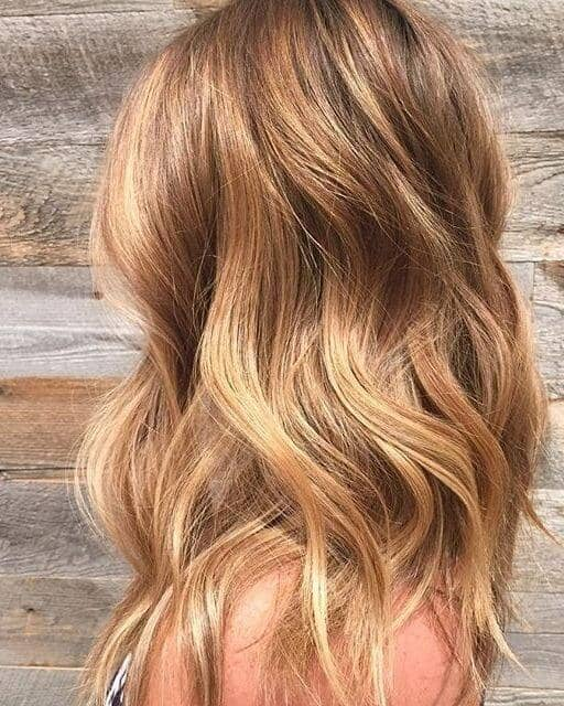 Rich Honey Blonde With Ash Lowlights