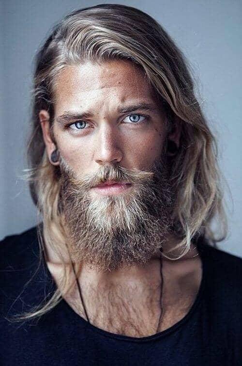 Shoulder-length Hair, Medium-long Beard