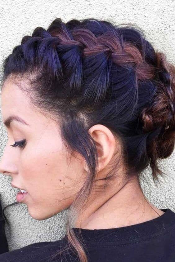 A Continuous French Braid Updo