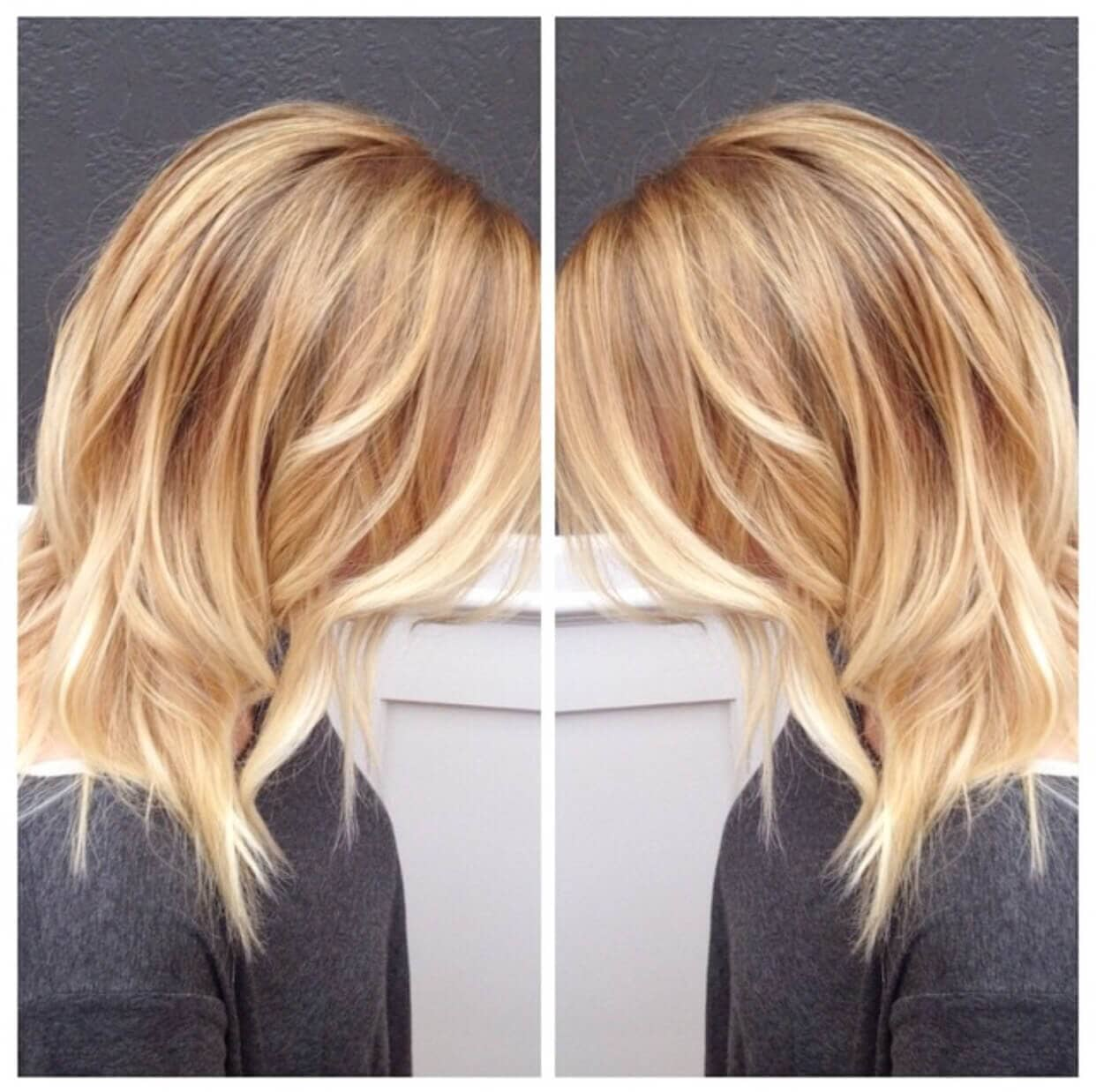 Honey To Platinum Balayage