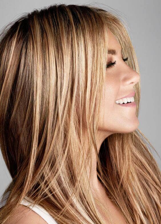Cool Ash Blonde With Honey Highlights