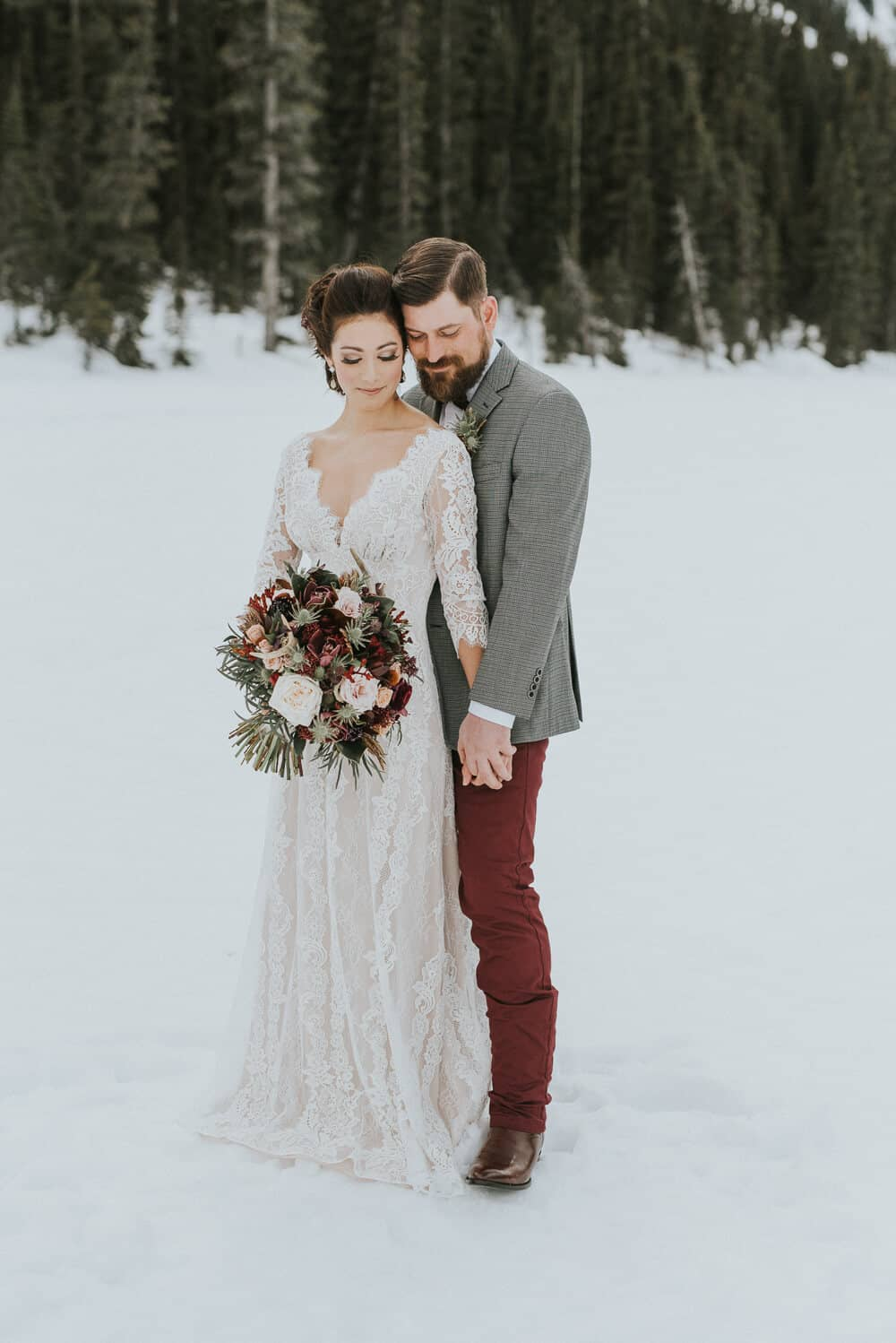 Full Lace Winter Wedding Dress