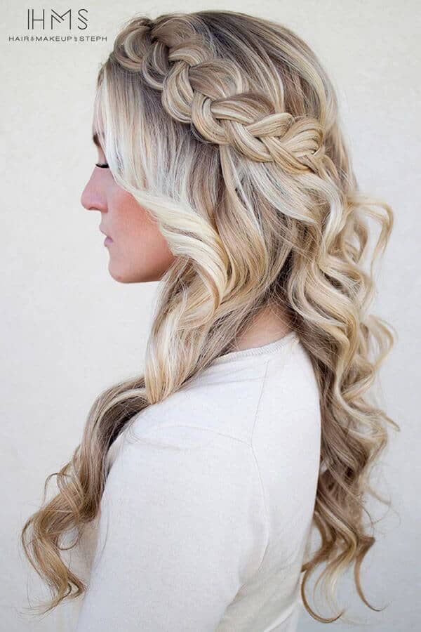 Ringlets With Braided Crown