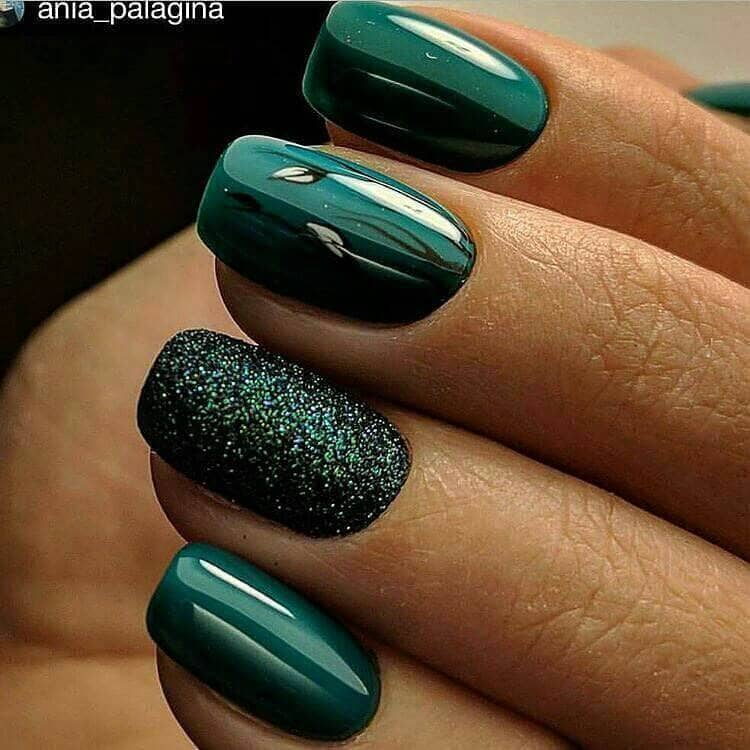 Christmas Tree And Mint Green With Glitter Accent