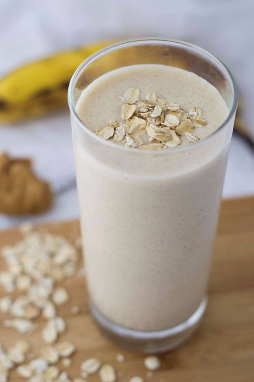 Tasty Banana and Peanut Butter Smoothie