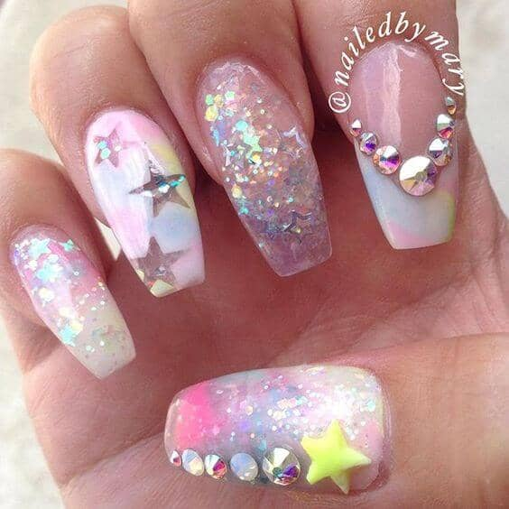 Be a Star with Unicorn Nails